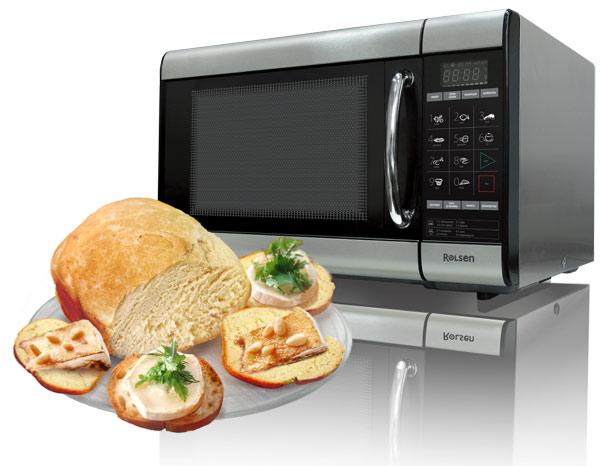 бутерброды рядом с микроволновкой
