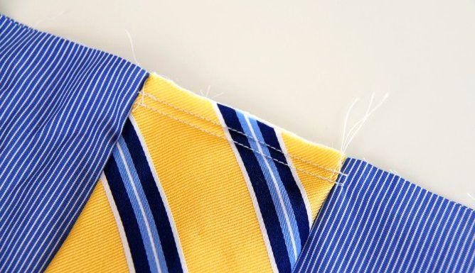 Как сшить сумку для мальчика из мужской рубашки?