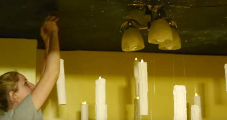 Как сделать парящие свечи для декора комнаты на Хэллоуин?