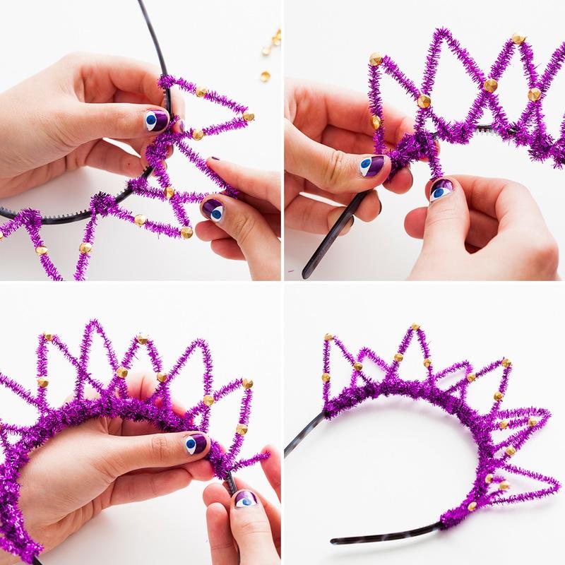 Как быстро сделать корону для новогоднего костюма?