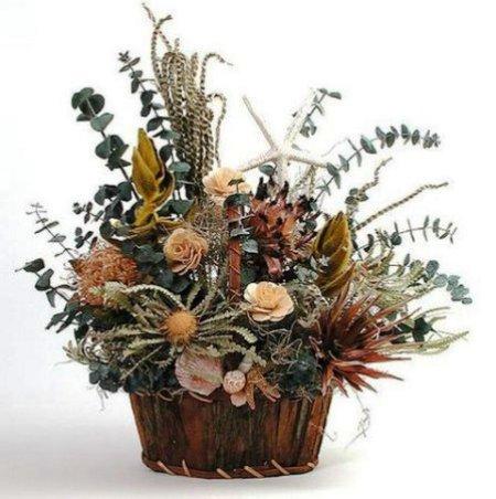 Как сделать композицию из засушенных растений и цветов