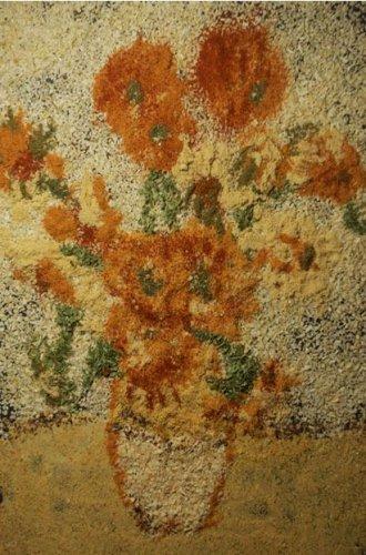 Как создаются картины из соли и специй. Картины из необычных материалов