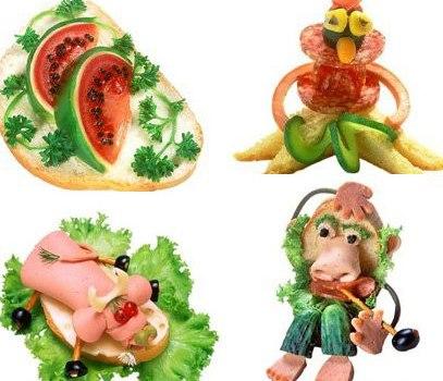 Как украшать детские блюда. Часть 2. Бутерброды
