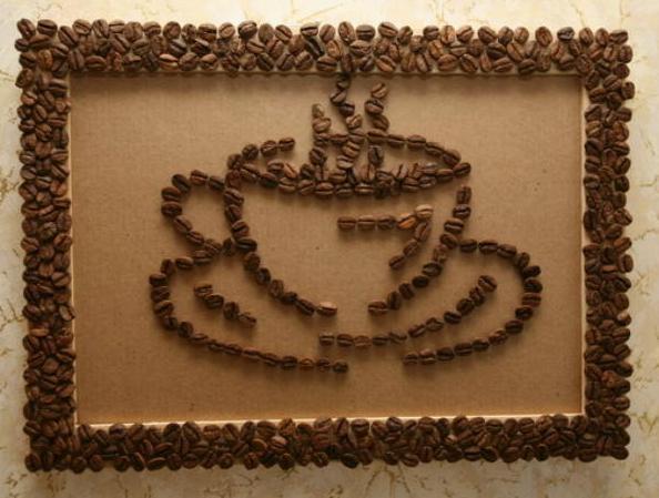 Как сделать картину из кофейных зерен