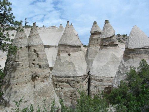 палаточные скалы в штате Нью-Мексико (США)
