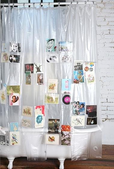 Очередная современная идея: шторки для ванной комнаты из одной или нескольких любимых снимков