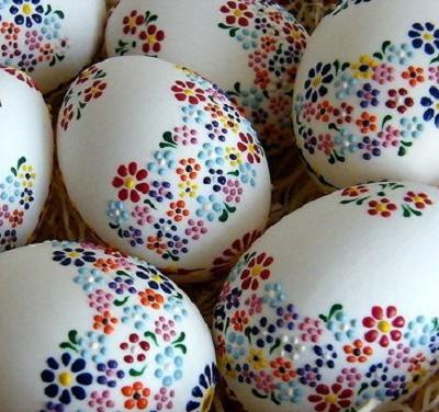 Как расписать пасхальное яйцо воском. Часть 1