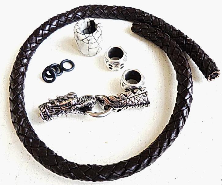 Как сделать оригинальный мужской браслет из кожи и стали