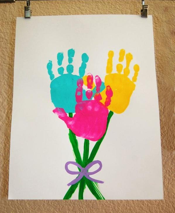 Открытка пальчиковыми красками на день рождения 25
