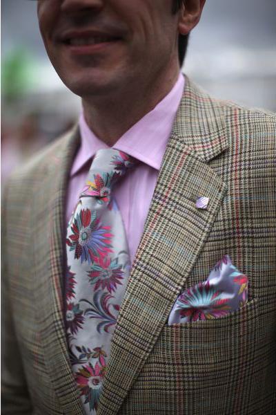 Цветочный галстук