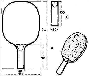 Теннисная ракетка схема