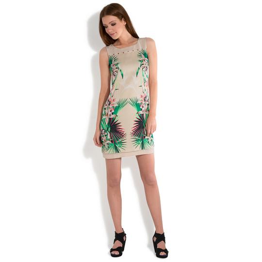 платья MEXX короткое стрейч принт рисунок растительный цветочный этника