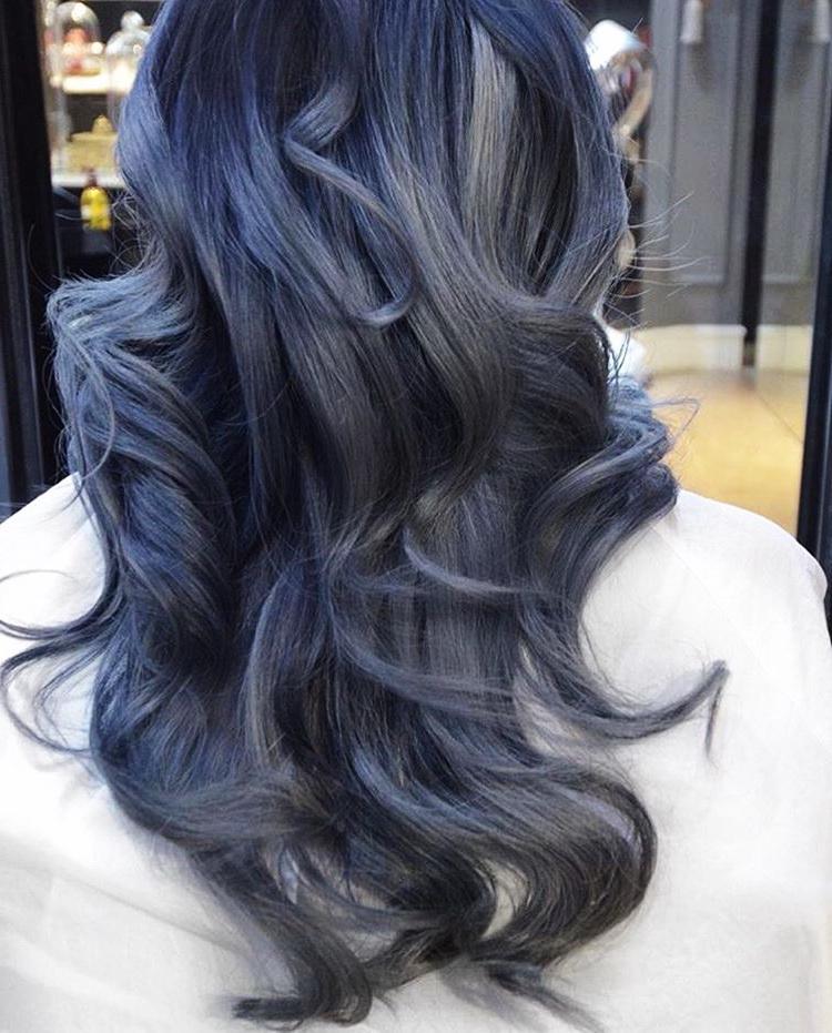 Как выглядит новый бьюти-тренд 2016 в окрашивании: джинсовые волосы (Denim Hair)