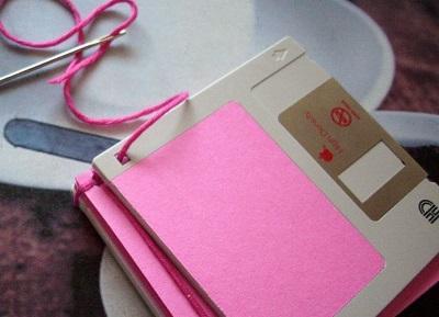 Как сделать блокнот в виде дискеты