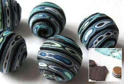 Как сделать имитацию камня и металла из полимерной глины
