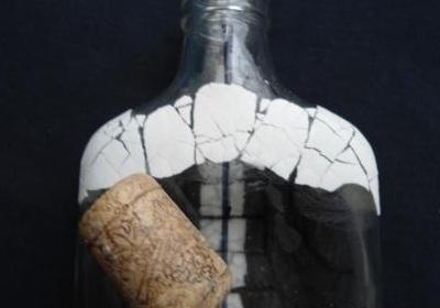 Как сделать имитацию змеиной кожи на бутылке