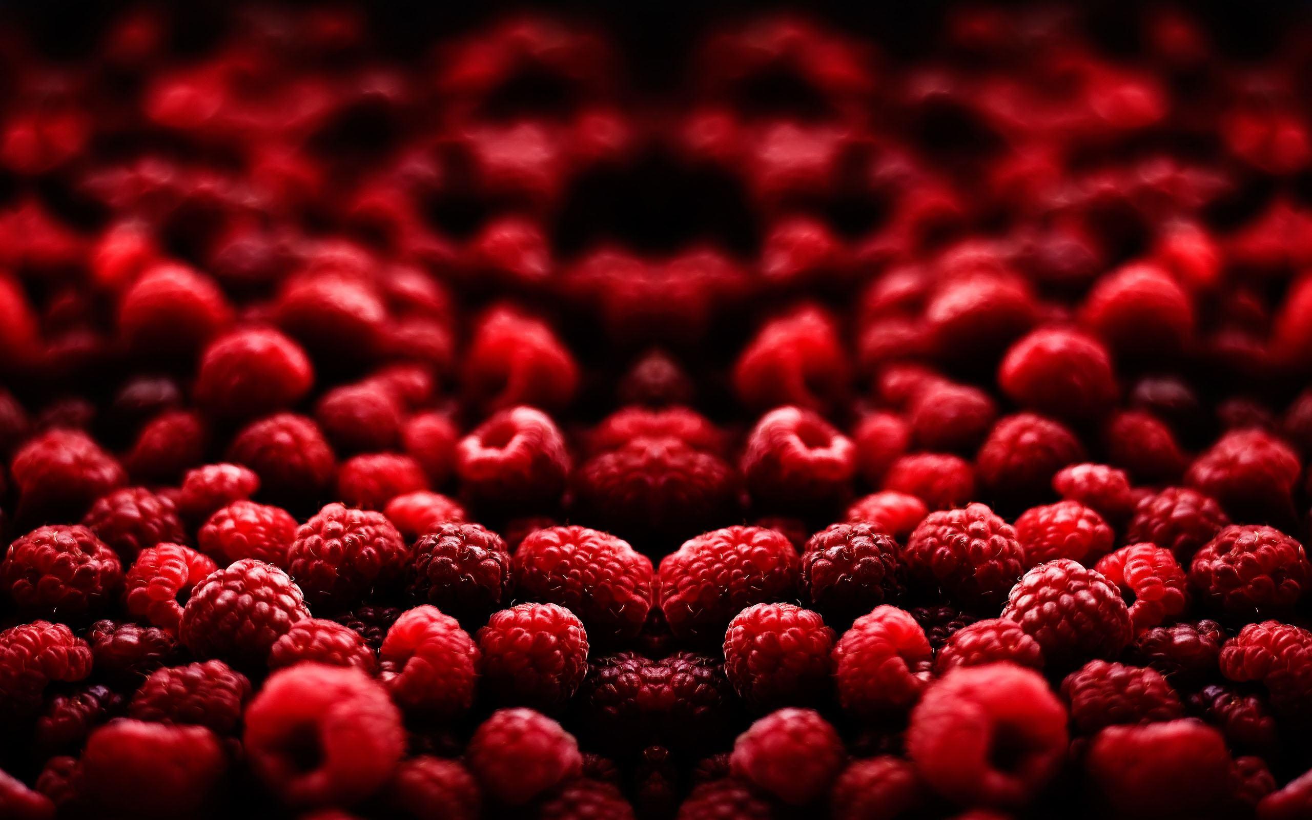 гора малины ягоды