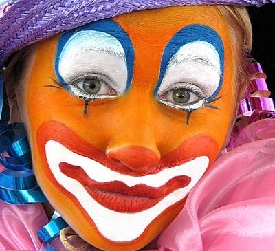 Как сделать грим клоуна