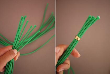 Как выполнить яркое ожерелье из шнуров и ниток
