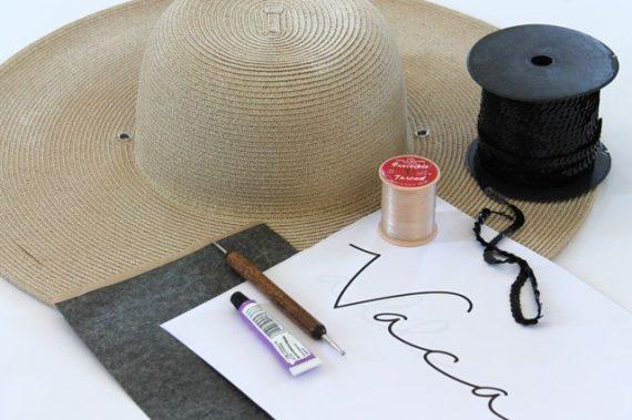 Как быстро преобразить простую соломенную шляпу в модный аксессуар