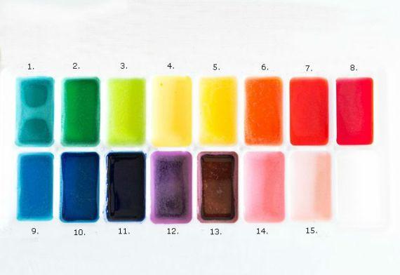Как самостоятельно сделать ароматизированные акварельные краски для детей
