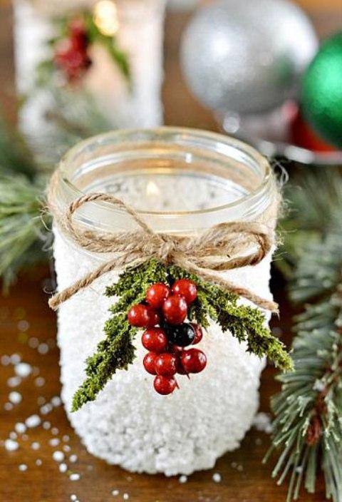 Как из стеклянных банок сделать необычные новогодние украшения
