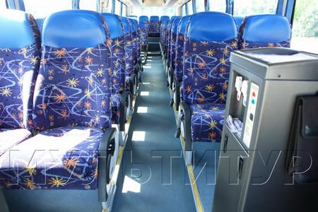 Установка с кипятком в автобусе