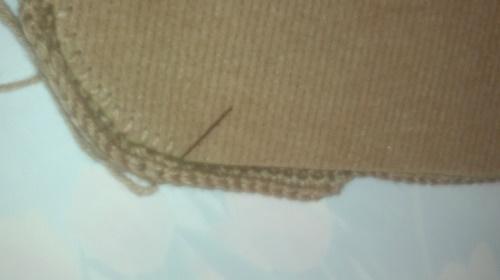 Как сделать простые вязаные тапочки на плотной подошве