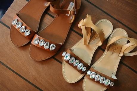 как сделать сандалии модными: стеклярус и кожаные сандалии