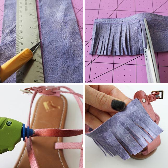 сандали в стиле хиппи и среднего запада своими руками: с бахромой; пошаговая инструкция в картинках