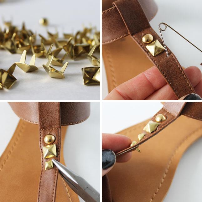 модные сандалии лета 2014 своими руками: Шипованные сандалии, процесс создания в картинках