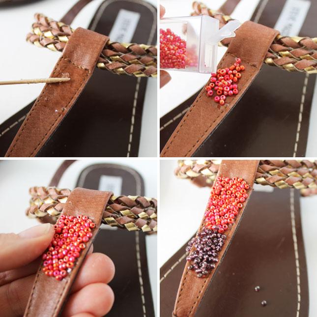 сандали в стиле хиппи и среднего запада своими руками: с бисером; пошаговая инструкция в картинках