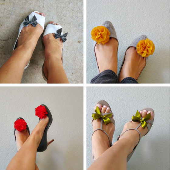 клипсы для туфлей и сандалий