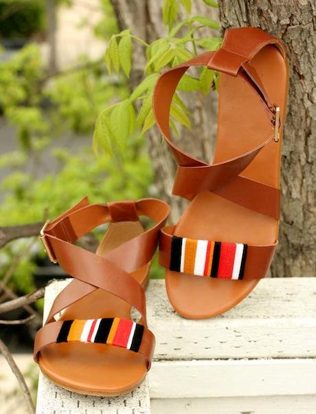 модные сандалии для лета 2014 своими руками, украшаем: Этнико-племенные сандалии