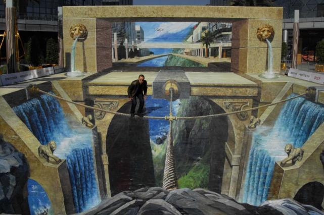 Как появились 3D рисунки на асфальте