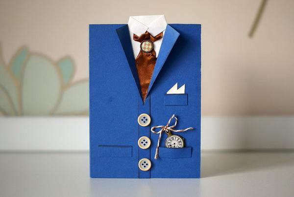 Как сделать оригинальную мужскую открытку для праздника