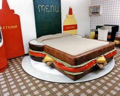 бутерброд - необычные и оригинальные кровати в стиле хай-тек и модерн