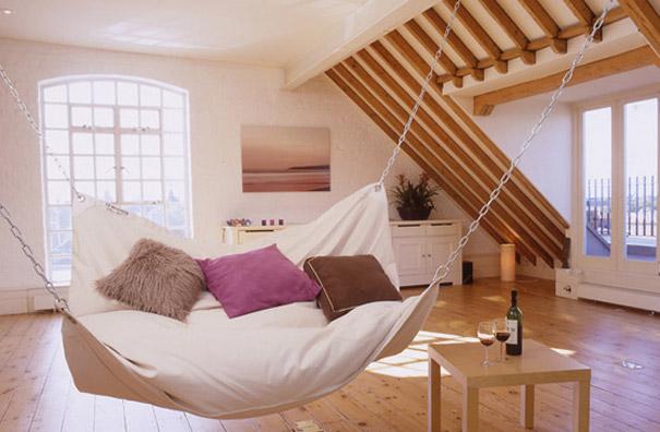 Гамак-кровать «Le Beanock» - необычные и оригинальные кровати в стиле хай-тек и модерн