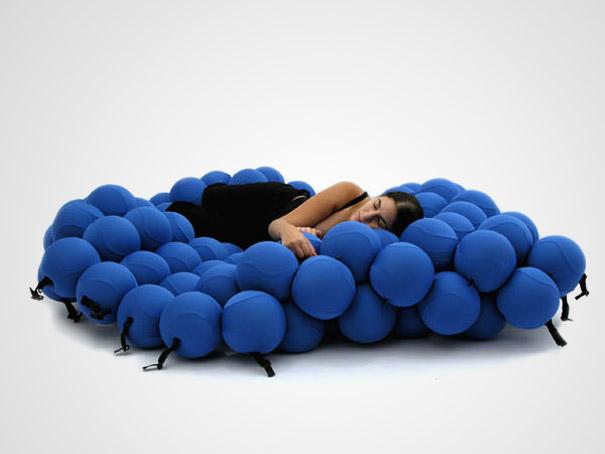 кровать из шариков - необычные и оригинальные кровати в стиле хай-тек и модерн