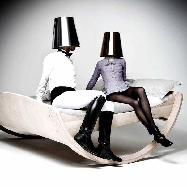 Кровать-качалка «Личное облако» - необычные и оригинальные кровати в стиле хай-тек и модерн