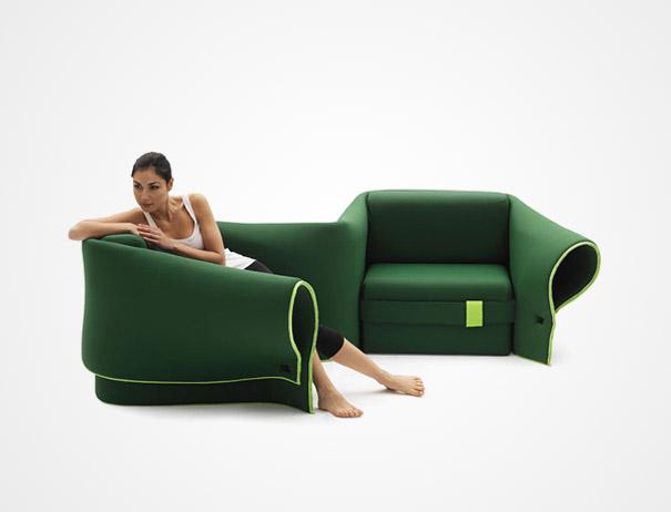 Гуттаперчевая кровать-трансформер «Sosia» - оригинальные кровати в стиле хай-тек и модерн