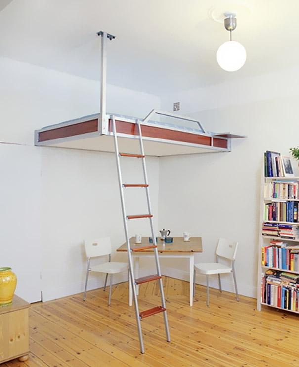 кровать-чердак - дизайнерские кровати в стиле модерн и high-tech