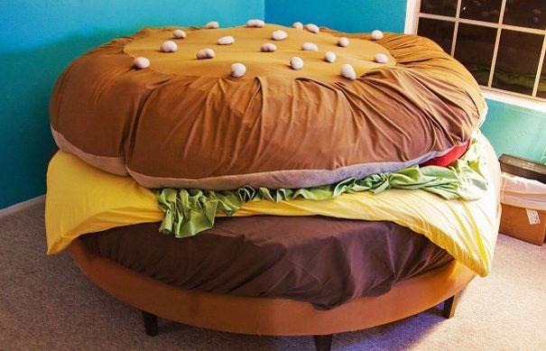 гамбургер - необычные и оригинальные кровати в стиле хай-тек и модерн