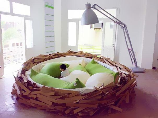 громадное гнездо - необычные и оригинальные кровати в стиле хай-тек и модерн