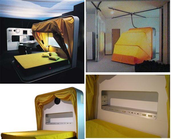 кровать с колпаком - необычные и оригинальные кровати в стиле хай-тек и модерн