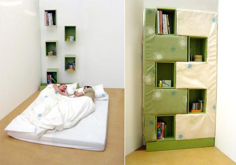 Современные кровати-трансформеры - Кровать-книжный шкаф