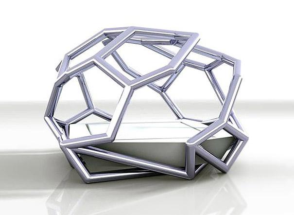 трехмерная геометрия - необычные и оригинальные кровати в стиле хай-тек и модерн