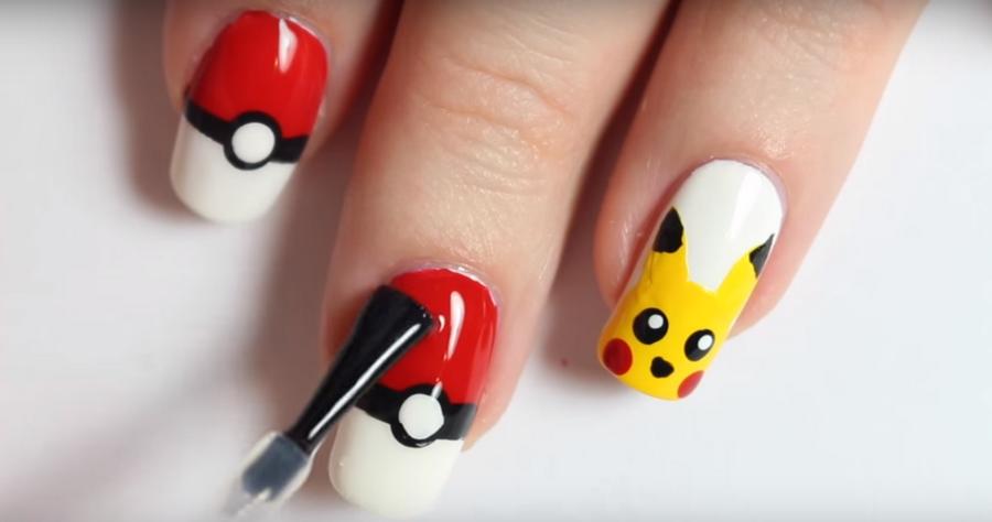 Как сделать оригинальный маникюр в стиле игры Pokémon Go