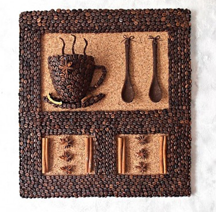Как Как сделать картину из кофейных зерен