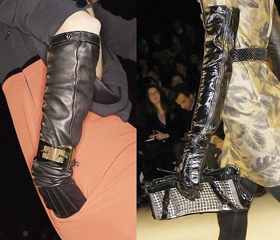 длинные кожаные перчатки мода тренд осени 2013